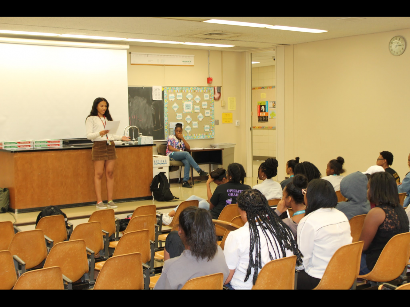 The Black Awareness Society for Education celebrates its final meeting and holds the elections for next years officers. (Photo Credit: Jasmine Williams)