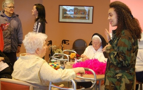 Celebrating Halloween with the retired Sisters of Mercy
