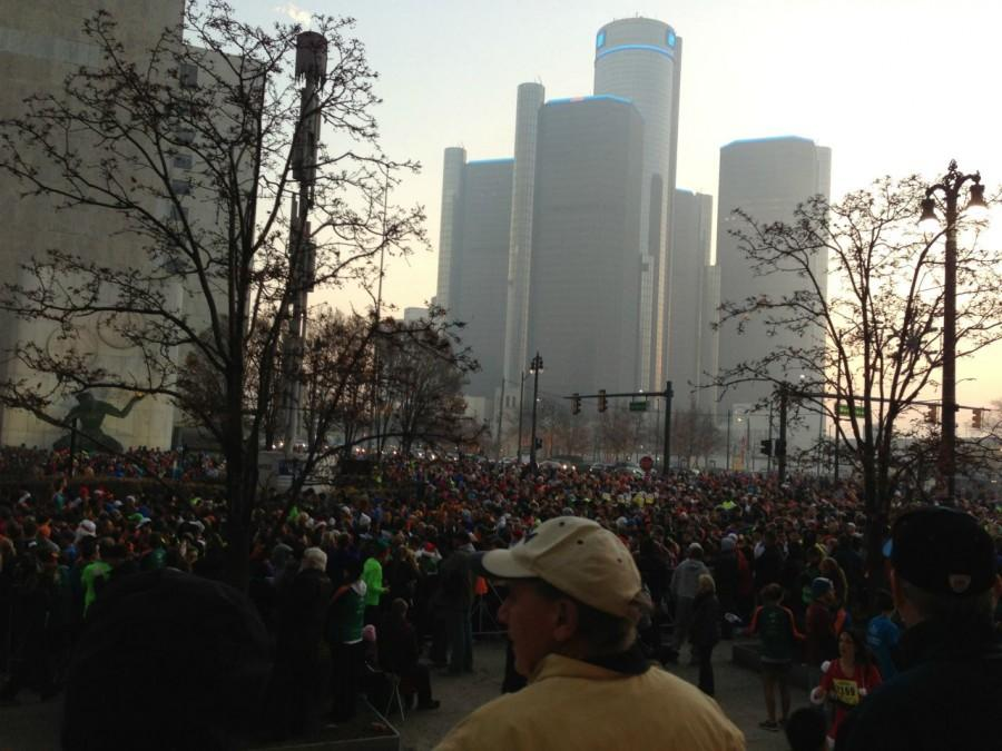A+record+number+of+people+gathered+Thanksgiving+morning+this+year+to+participate+in+Detroit%27s+annual+Turkey+Trot.