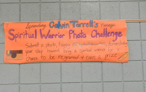 HRC has created and posted banners such as these around the school to advertise the warrior campaign. Photo credit: Adelia Davis