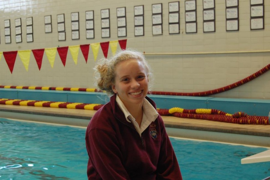 Sophomore+Caroline+Reamer+is+a+two+year+varsity+swimmer+who+competes+in+freestyle+and+individual+medley+events.+