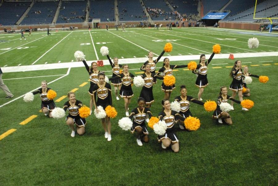 Mercy Varsity Pompon performs at Prep Bowl