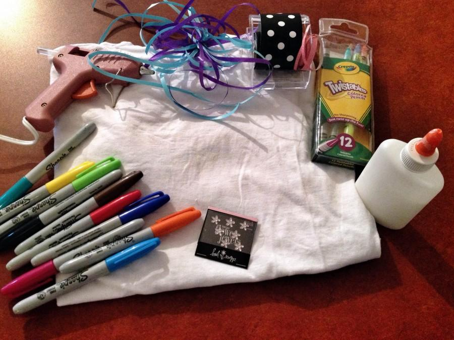 A simple white t-shirt offers a blank canvas for any DIY costume...all you need are some craft supplies and a creative mind!