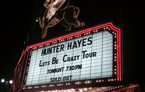 Hunter Hayes sold out Fox Theatre, which holds 2,200 seats.