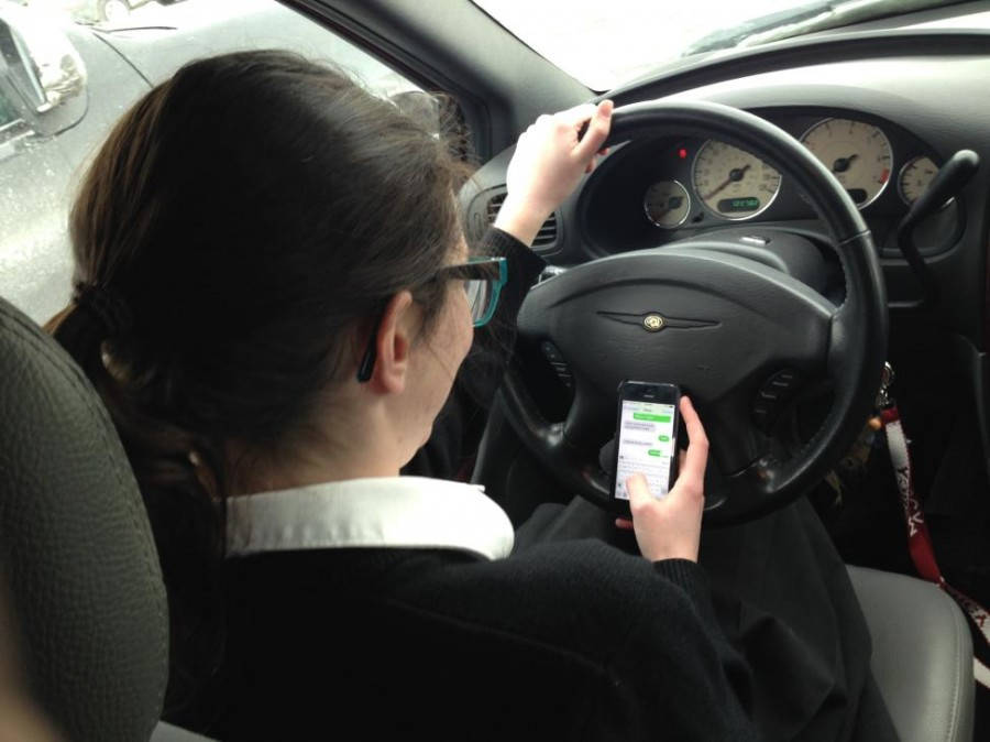 A Mercy junior takes her eyes off the road for several seconds in order to check a text, increasing her chances of a crash by 23 times.