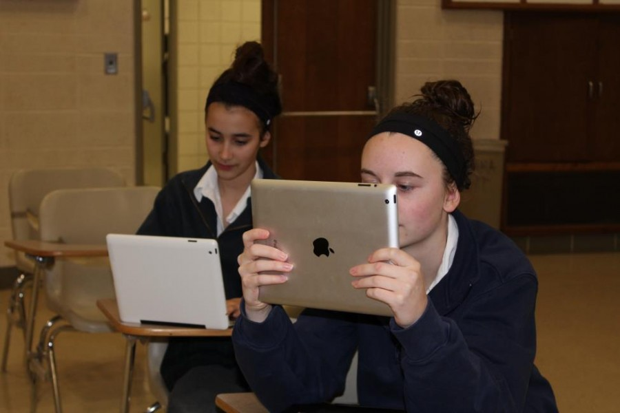 Mercy students are accostomed to using technology in and out of the classroom.