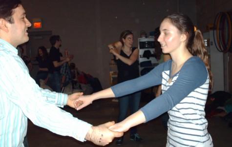 Junior Madeline Bresson enjoys learning new swing dance steps at the Farmington Swinginfusion location.