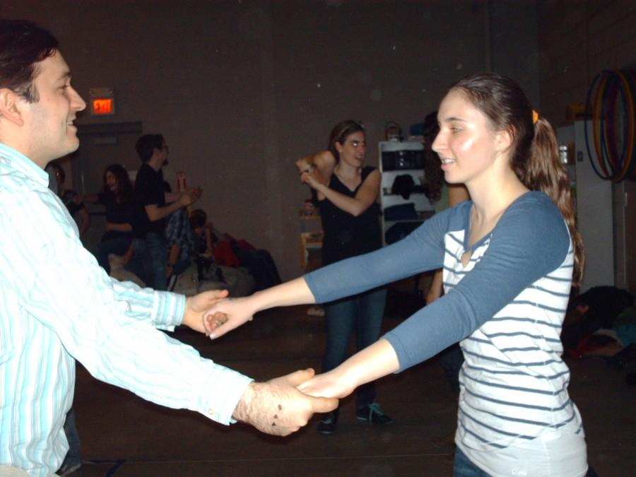 Junior+Madeline+Bresson+enjoys+learning+new+swing+dance+steps+at+the+Farmington+Swinginfusion+location.