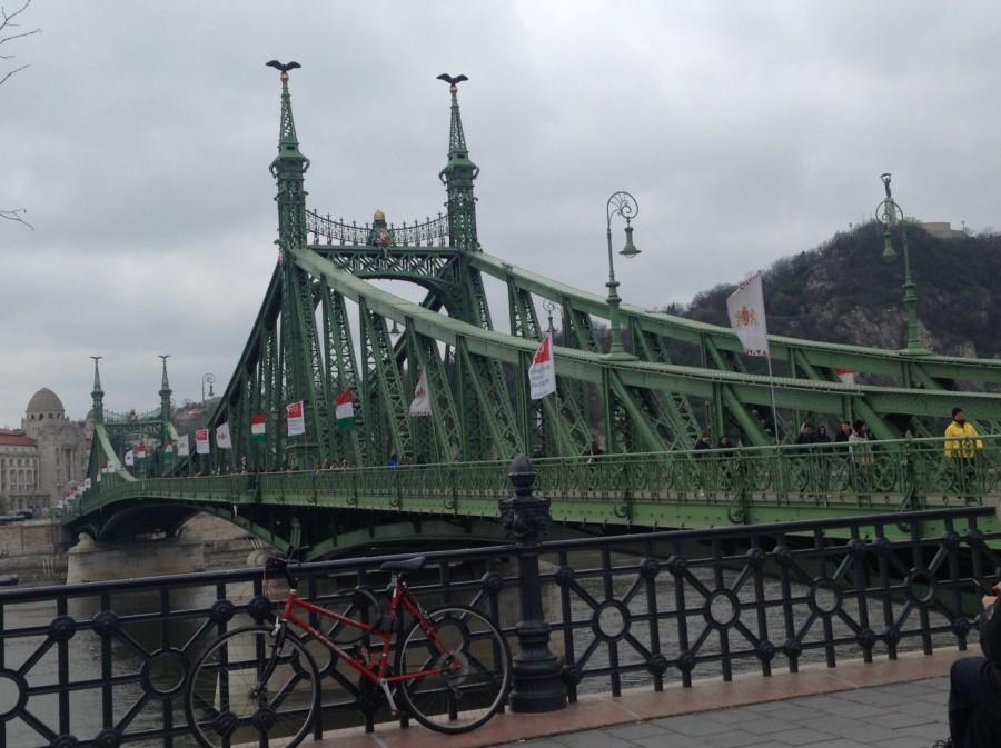 The Liberty Bridge shown above connecting Buda and Pest is located at the southern end of City Center.
