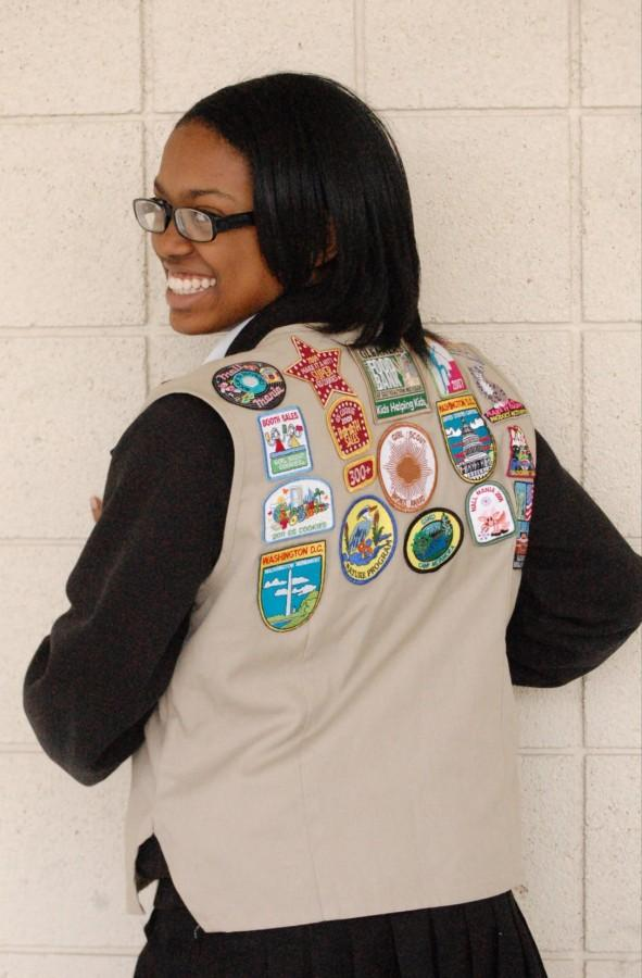 Williams%2C+an+Ambassador+Girl+Scout%2C+has+earned+various+patches+recognizing+achievements+ranging+from+service+at+Gleaners+Food+Bank+to+selling+over+300+boxes+of+Girl+Scout+cookies.+
