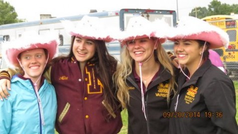 The C Division team is advancing.  Carly Camp (from left to right), competed in speed, Mira Mansuetti competed in all showmanships, saddleseat, huntseat, and jumping, Peyton Pawlusiak competed in showmanship, huntseat, jumping, western, and trail, and Maria Pizzo competed in showmanship, saddleseat, and huntseat.