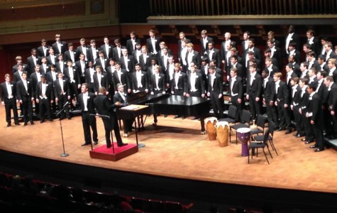 The Tri-M Music Honor Society recently attended the University of Michigan Men's Glee Club concert, which focused on the importance of the homeland (Photo Credit: Katie Schubert).