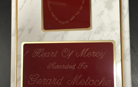Having received the Heart of Mercy in 2000, Mr. Meloche has had the award longer than any current staff member (Photo Credit: Theresa Walle).