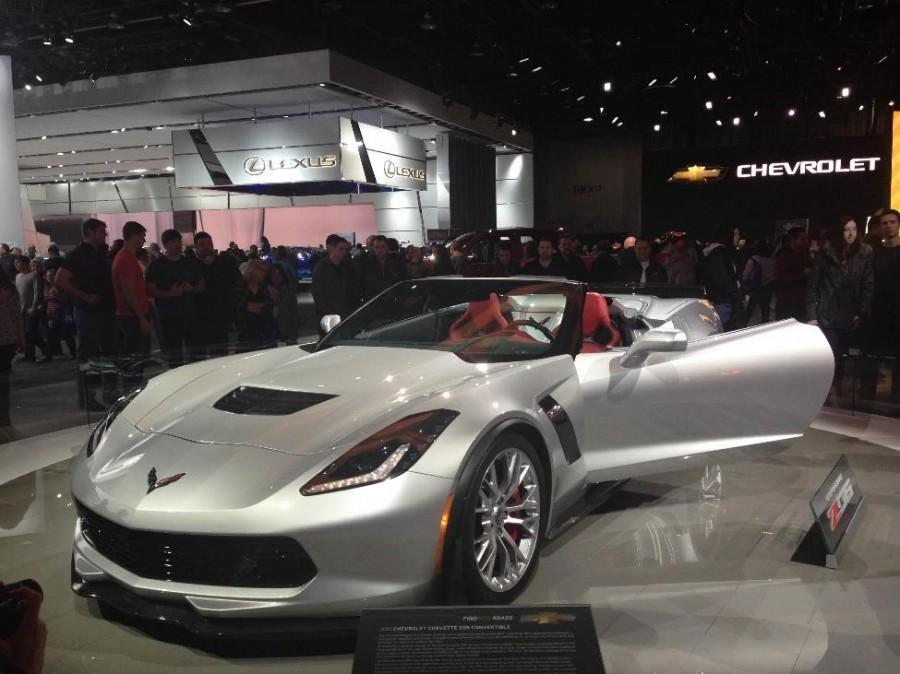 Car-lovers swarm to see some of the best new cars in the world like the Ford GT, the Lincoln MKX and the Chevrolet ZO6 (Photo Credit: Paisley Sutton).
