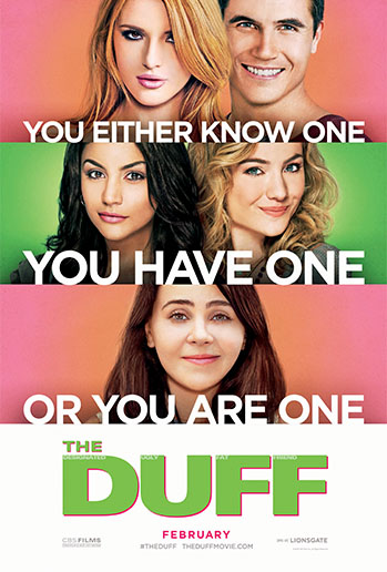 The movie adaption of The DUFF loses much of what makes the novel unique in terms of plot and character development. The film favors more of a traditional high school-movie format (Photo Credit: CBS Film).