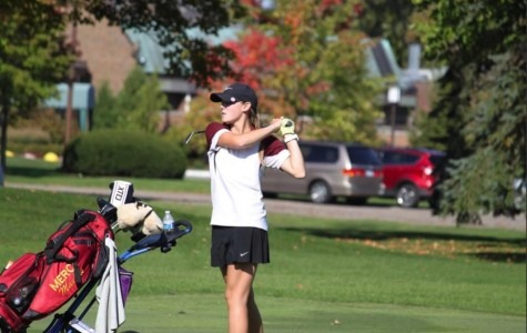 Junior Julia Shaw played in the number two position on Mercy's Varsity Golf team this past fall and hopes to move up to the number one position next season (Photo Credit: Kate Shaw).