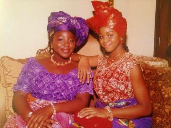 During her most recent trip to Nigeria in 2013, Nwaopara and her cousin Ann dress up in traditional outfits in preparation to go to festival (Photo credit: Betram Nwaopara).