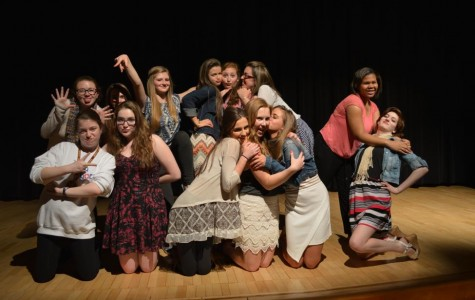 Photo caption (for slideshow): The Tri-M coffee house was a success, inviting performers from Mercy and other local high schools to share their artistic talents (Photo Credit: Samantha Schubert).