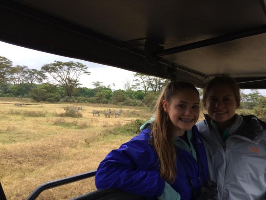Sophomore Livvy and Maddy Hintz began their journey visiing several National Parks in Tanzania. (Photo courtesy of Livvy Hintz)
