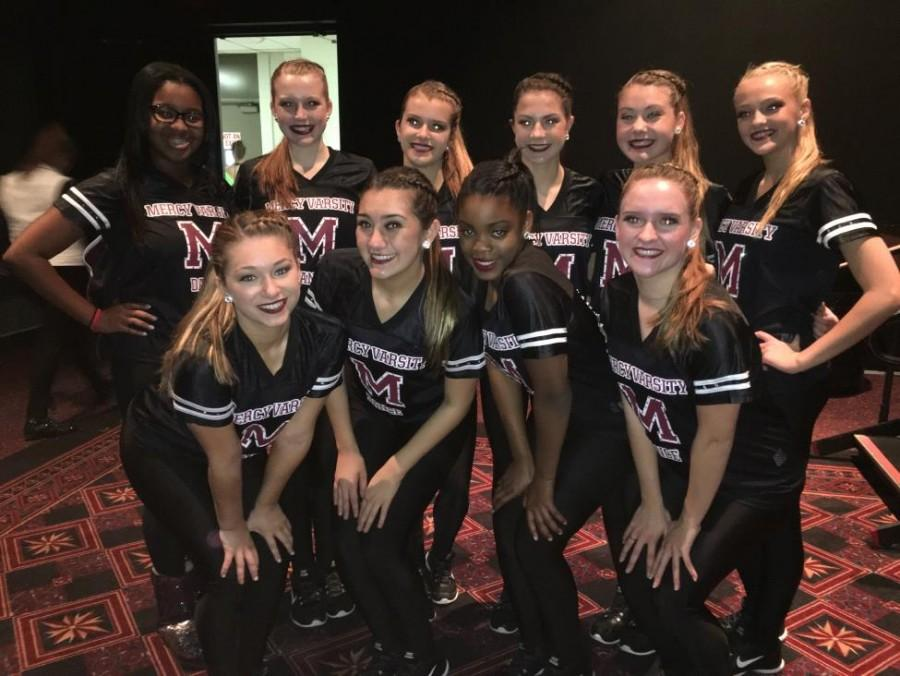 Mercys dance team will be performing at Mercy Varsity Basketball games this school year.  (Photo credit: Avery Ellis)