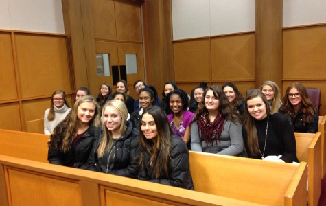 Mrs. Richter's second-hour AP Government class visited the Eastern District of Michigan's United States District Court on Feb. 16. (Photo credit: Mrs. Cindy Richter)