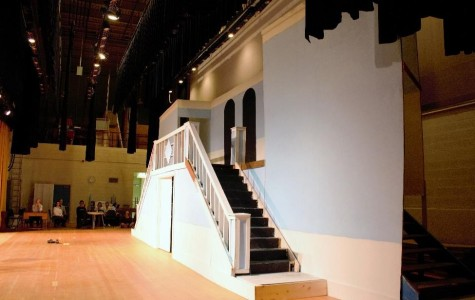 The Von Trapp house is in progress, with stage crew members working hard on it every week. (Photo credit: Emma Kruse)