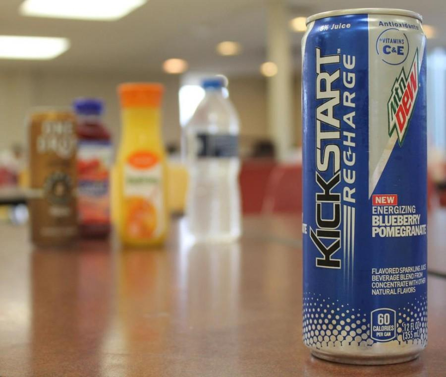 Currently%2C+the+cafeteria+only+sells+Mountain+Dew+Kickstart+Recharge+in+one+flavor%3A+blueberry+pomegranate.+%28Photo+credit%3A+Caitlin+Somerville%29