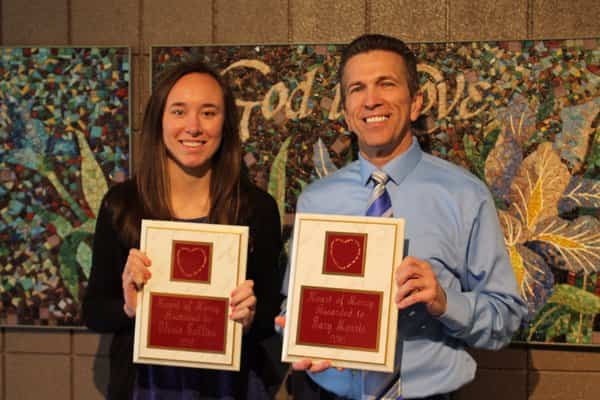 Congratuations Heart of Mercy award recipients Olivia Collins and Mr. Gary Morris!