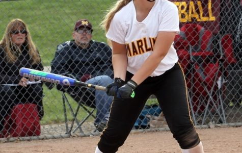 Senior captain Abby Krzywiecki steps up to bat. She leads the team, with five home runs so far this season. (Photo used with permission from Abby Krzywiecki)