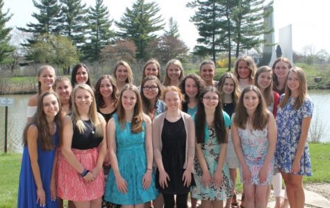 The 2016 Valedictorian/Salutatorian candidates were treated to a tea and luncheon on Monday. To be a part of this group, a minimum GPA of 3.95 and a written application are required. (Photo used with permission from Mercy High School)