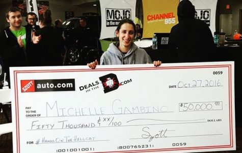 Michelle Gambino stood for over 70 hours in the Hands on the Hellcat competition to win $50,000. (Photo Credit: Michelle Gambino)