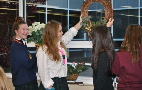 For many Mercy students, decorating for Christmas and listening to carols is something to look forward to year-round. (Photo Credit: Megan Hutter)