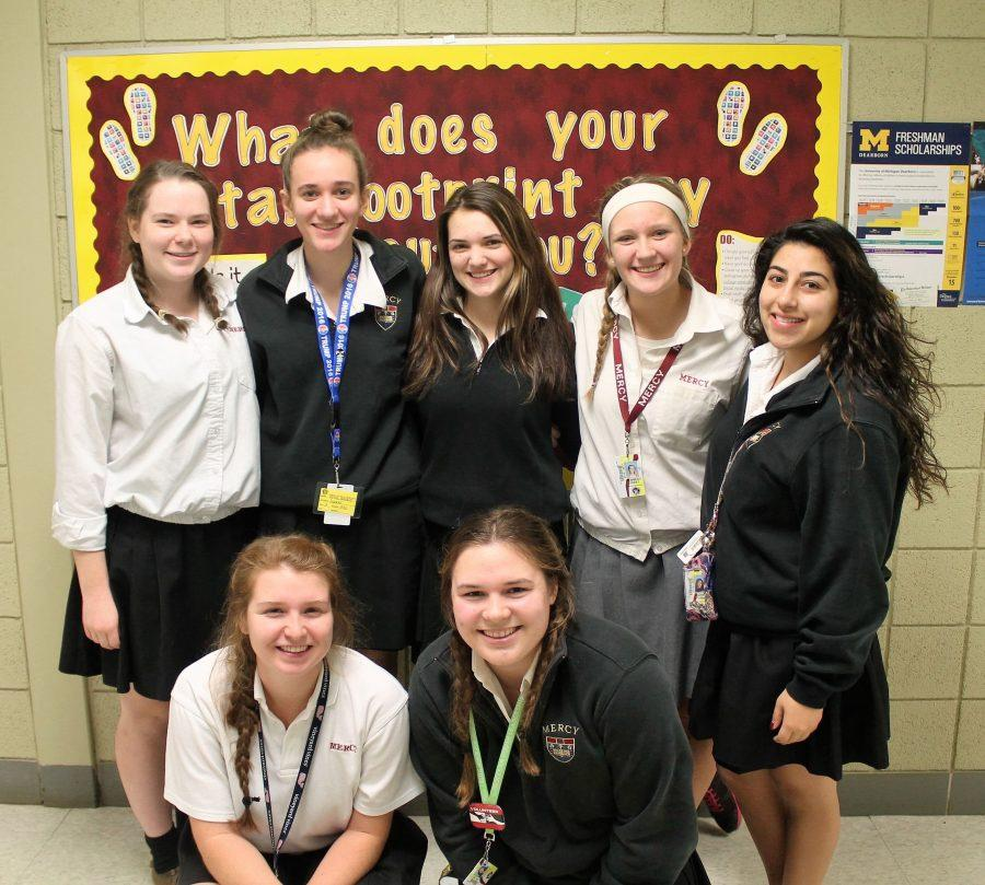 Pro-life+club+leaders+%28top+left+to+right%29+senior+Gloria+Neumann%2C%0Asenior+Natalie+Vaitas%2C+senior+Alexis+Ripke%2C+junior+Kennedy+Griest%2C%0Asenior+Nadine+Foumia%2C+%28bottom+left+to+right%29+senior+Bridget+Kenney+and%0Asenior+Jessica+Kayden+work+hard+all+year+long+to+make+Pro-life+club%0Athe+best+it+can+be.+%28Photo+Credit%3A+Caitlin+Jefferson%29