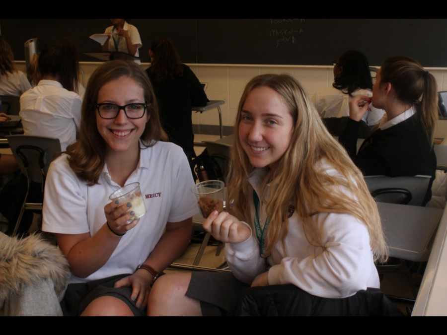 Club members take a break from their usual classes to meet during the school day where they enjoyed a hands-on experiment.