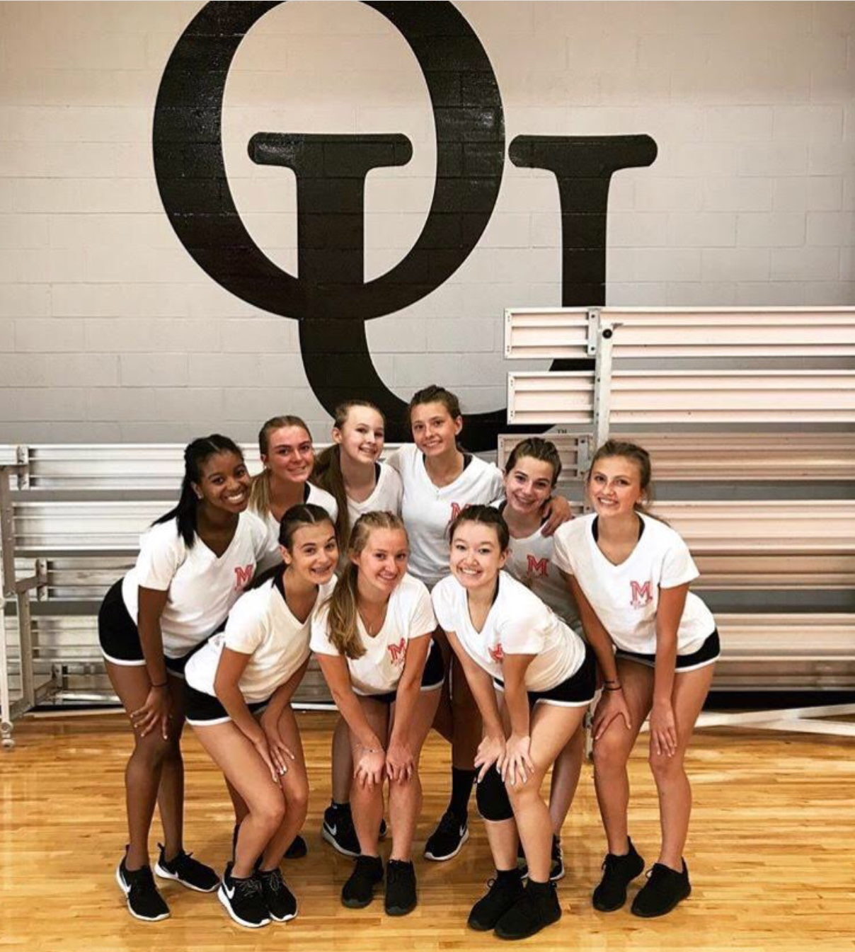 The Mercy Varsity Dance team worked hard and bonded during their team camp at Oakland University. They worked on technique and performance, and grew close through their long hours of dancing and sleepovers.  Fair Use: Instagram