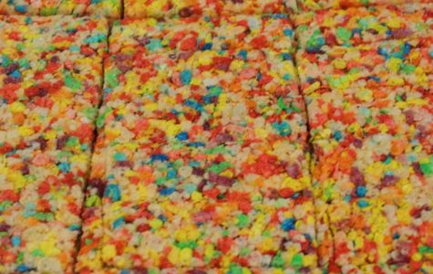 Fruity Pebble Rice Krispie treats are easy to make and will certainly satisfy anyone's sweet tooth.  Photo by: Sabrina Yono