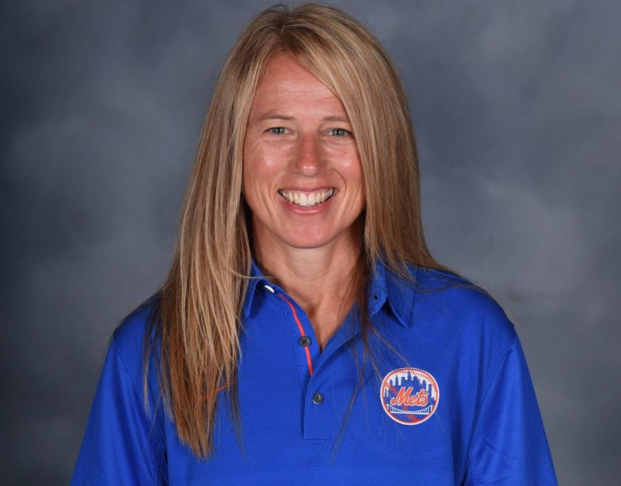Maureen Stoecklein '91 has been able to pursue various passions through her work as a firefighter and a team dietician for the New York Mets.  Photo used with permission from Maureen Stoecklein
