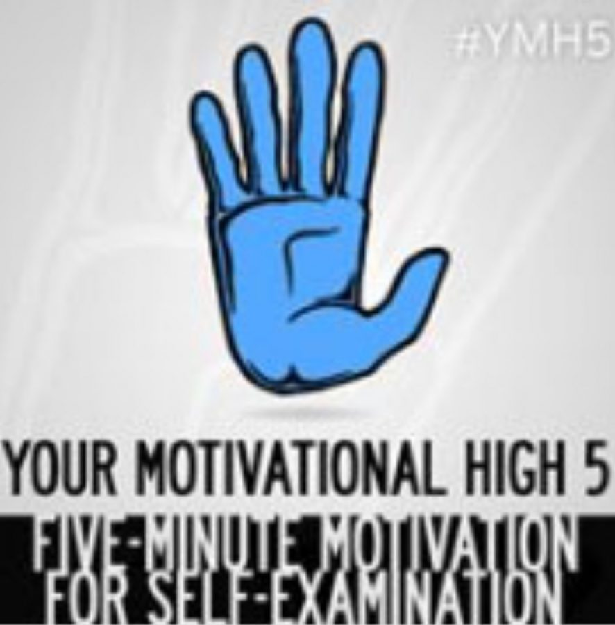 "The cover of the ""Your Motivational High 5"" series featuring their trending hashtag, #YMH5, in the top right corner. Fair use: photo from Facebook"