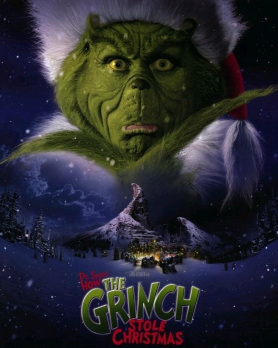 "Movie poster for ""The Grinch"" (2000).  Fair use: Instagram"