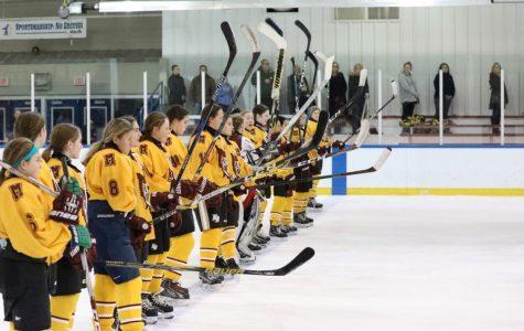 Mercy Varsity Hockey defeats Grosse Pointe South