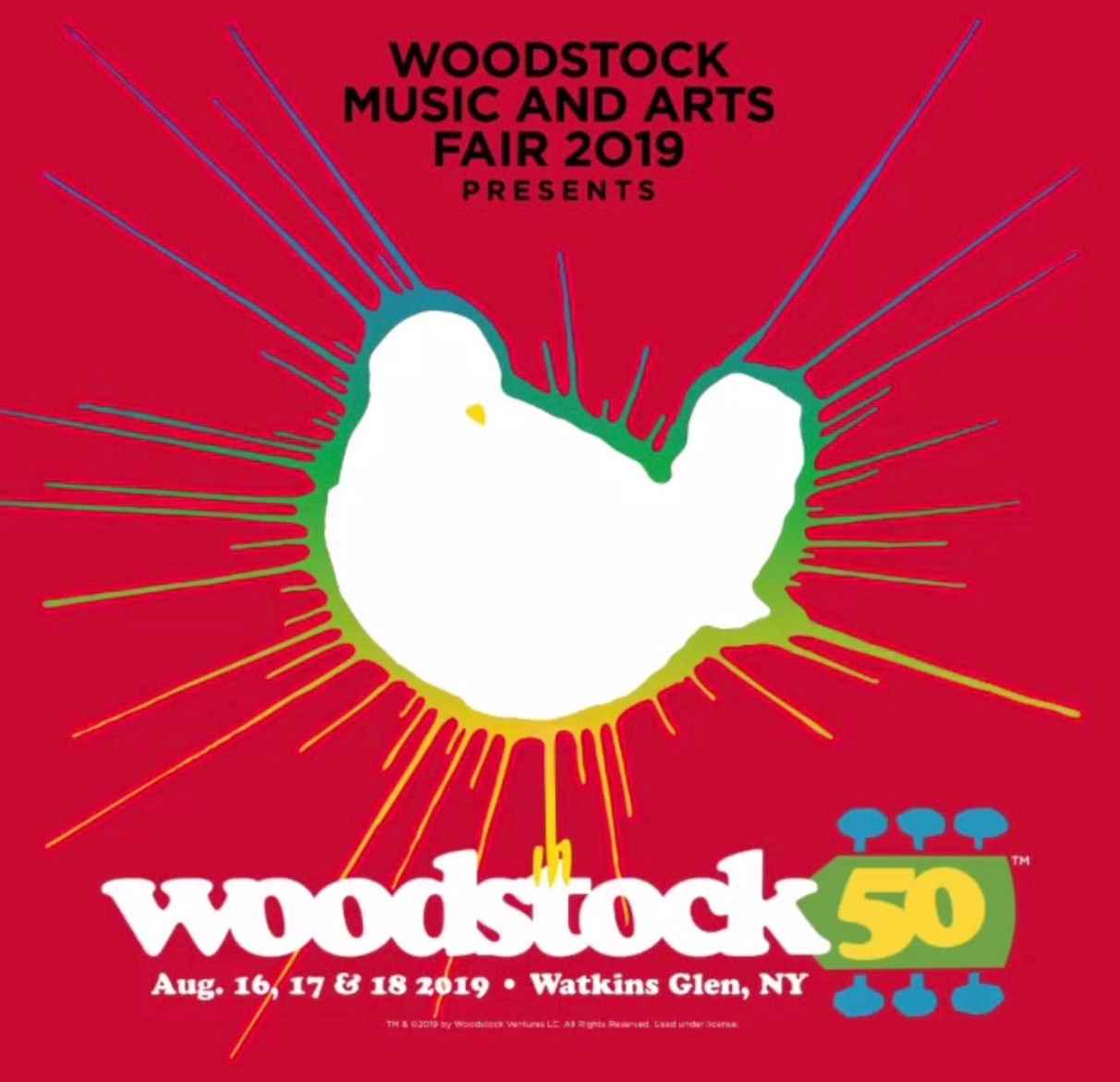 "The dates for Woodstock 50 have been set for August 16-18, 2019 in remembrance of the original and iconic Woodstock of 1969. According to the Woodstock Instagram account, ""the bird of peace is back"" as seen above.  Fair use: Instagram"