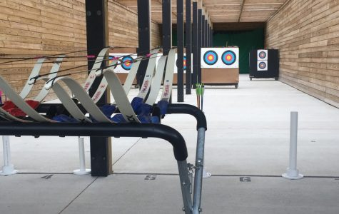 Mercy's archery team holds practices throughout the week from March through May at the state of the art Riley Archery Range in Farmington Hills.  Photo used with permission from Sophia Argusa