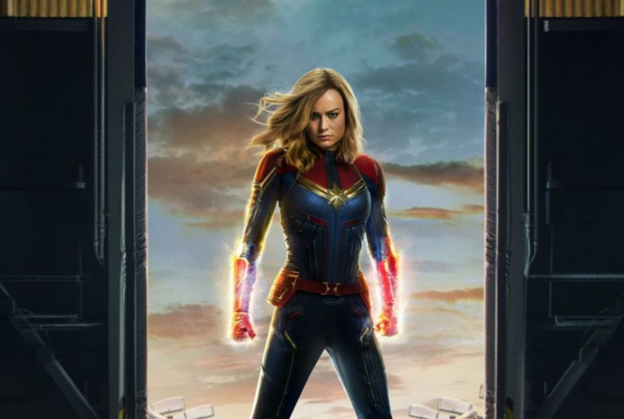 The+Captain+Marvel+poster+shows+the+audience+how+powerful+she+truly+is+and+is+a+perfect+representation+of+how+she+is+portrayed+through+the+film.+%0APhoto+used+with+permission+from+Vox