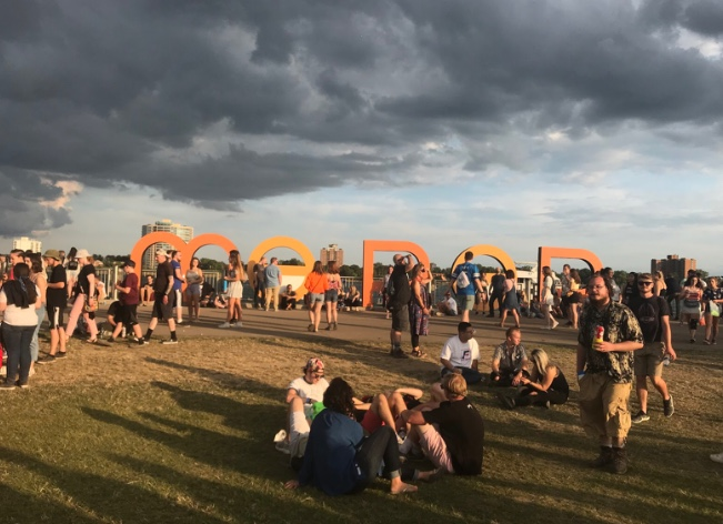 In the blistering July heat, thousands of people attended the 2018 festival to enjoy artists such as Daniel Caesar and Vince Staples.  Photo used with permission from Mia Lollo