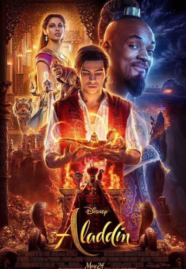 The official movie poster for Aladdin (2019) says the live-action film is set to release on May 24, 2019.  Fair use: Instagram