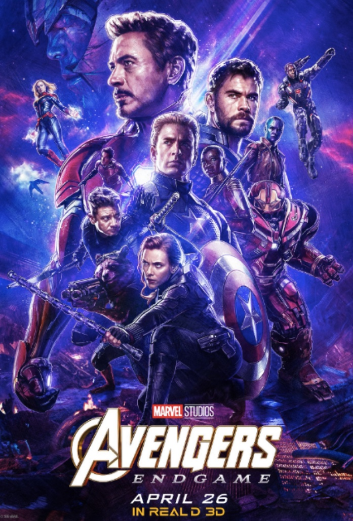 Avengers: Endgame came out on April 26 worldwide. Fair use: poster from Marvel.