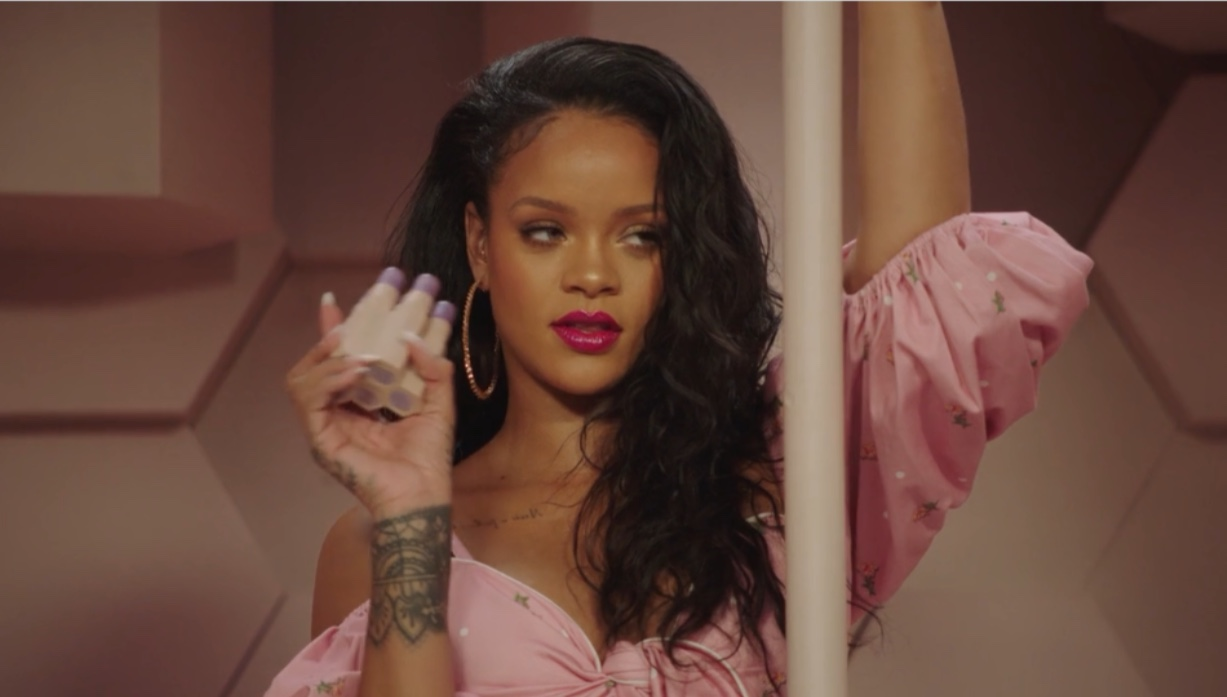 Rihanna during a promotional shoot for Fenty Beauty in 2018. Fair Use: Wikimedia Commons