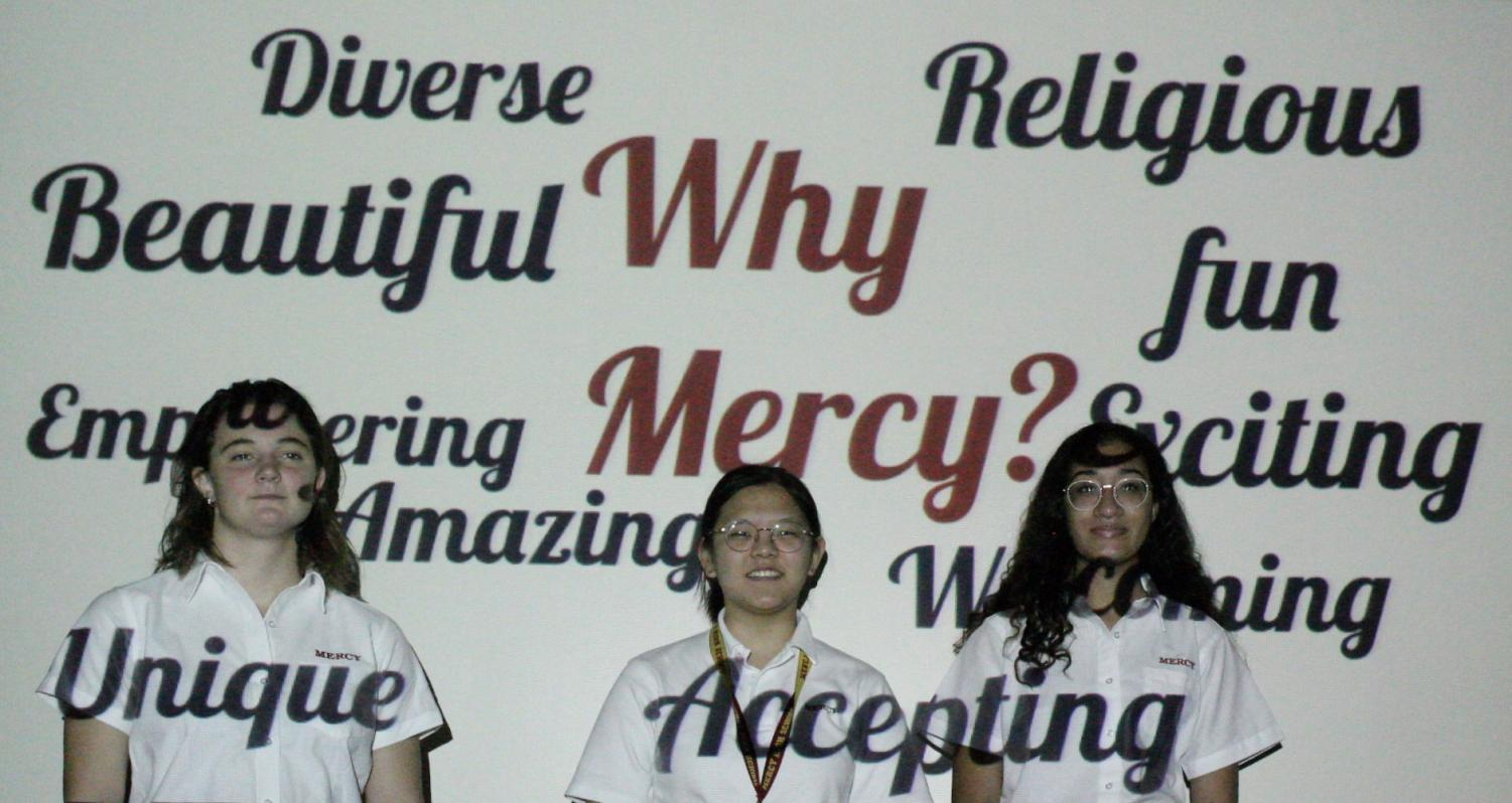 Girls come to Mercy for the opportunities and aspects that make our school so unique. Photo illustration by Dunya Kizy