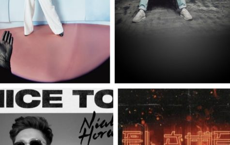 Harry Styles (top left), Louis Tomlinson (top right), Niall Horan (bottom left), and Zayn Malik (bottom right) album and single covers that will be released in the next few months. Fair use: Wikipedia