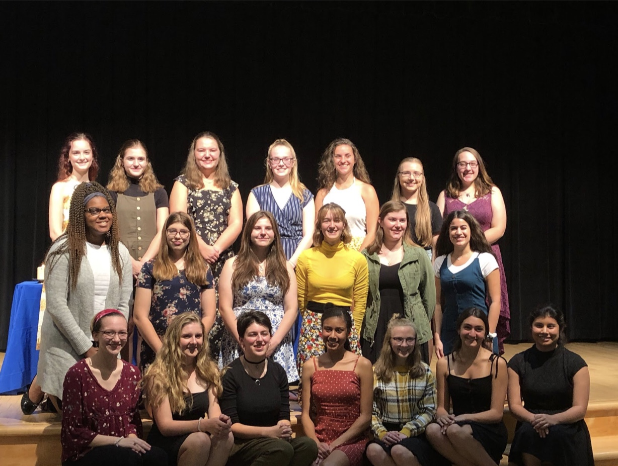 ITS members at the induction ceremony this year. ITS hosts a formal induction ceremony to commemorate the induction of new members. Photo used with permission from Ms. Isabelle Moore